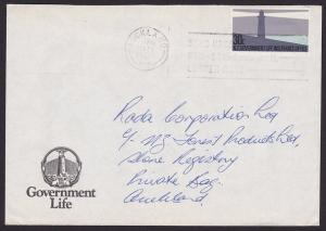 NEW ZEALAND GOVT LIFE 1986 30c lighthouse on commercial cover...............4597