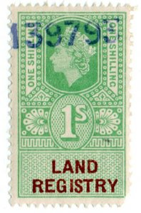 (I.B) Elizabeth II Revenue : Land Registry 1/-