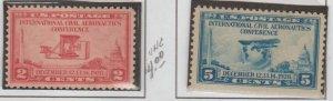 U.S. Scott #649-650 Airplane Stamps - Mint NH Set