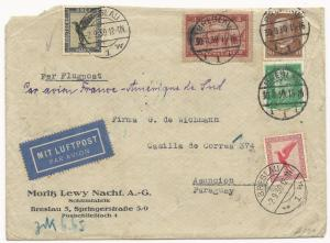 Germany Scott #C34 #339 #381 #368 #C28 on Air Mail Cover September 2, 1930