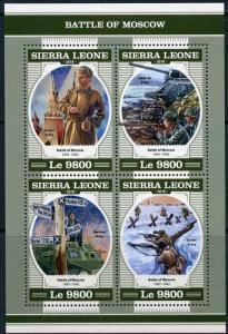 SIERRA LEONE 2018  WWII BATTLE OF MOSCOW  SHEET MINT NH