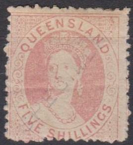 Queensland #24 Specimen Overprint CV $975.00 (B4347)