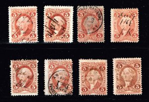 US STAMP REVENUE 5C USED STAMP COLLECTION LOT