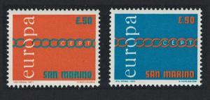 San Marino Europa 2v issue 1971 SG#913-914