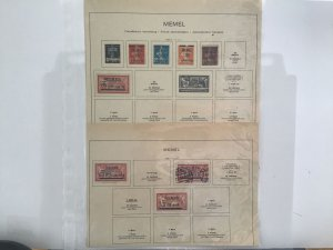 Memel French Administration 1920-22 used and mounted mint stamps pages R30222