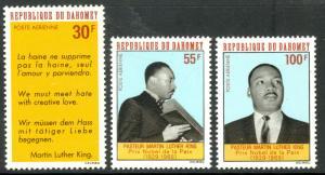 DAHOMEY 1968 MARTIN LUTHER KING JR  Airmail Set Sc C71-C73 MNH