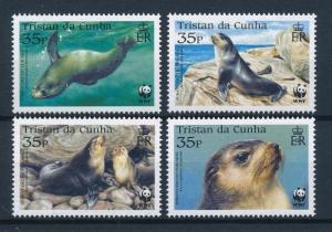 [53904] Tristan da Cunha 2004 Marine life WWF Seals MNH