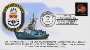2015, USS Ingraham, Last Day of Commission, Frigate, 15-035