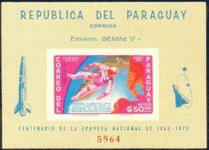 Paraguay space 1966 M: Block 78 GEMINI 04
