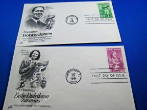 U.S. FIRST DAY COVER SETS - LOT of 2 -1981 -  GOLF CHAMPIONS     (FDC-17x)
