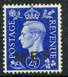 GREAT BRITAIN MIDDLE EAST FORCES 1942-43 KGVI 2 1/2d CAIRO Printing Sc 3a MH