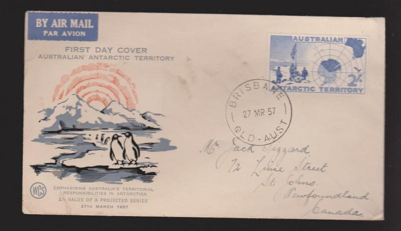 AUSTRALIA Antarctic Territory Scott # L4 On FDC WCS Thermal Cachet