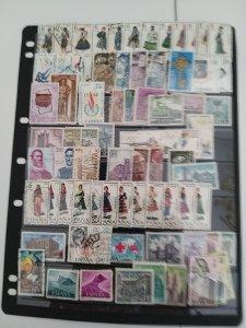 Lot Spania 1968-1969 complete series used/unused