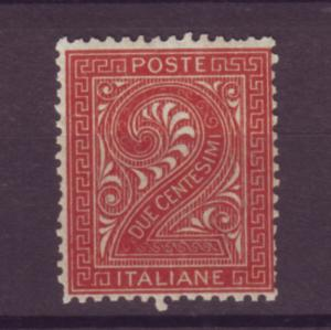 J21454 Jlstamp 1863-77 italy mnh #25 numeral, 2 scans
