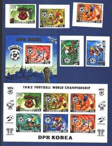 North Korea. 1981. 2099B-2103B Small sheet BL94B. Spain 82, football. MNH.