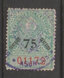 Paraguay Revenue Fiscal Cinderella stamp 9-20-11
