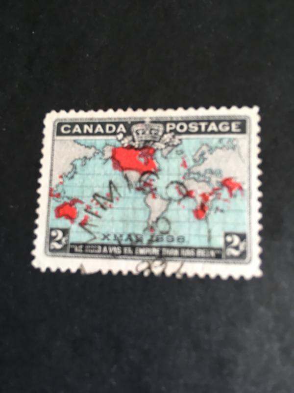 Canada 2c Deep Blue Map #86 Used Split Ring MIMICO/ONT/JA 20/99 - VF