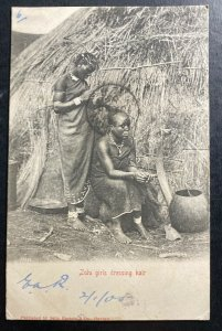 1905 Umtali Rhodesia RPPC POSTCARD Cover To London England Zulu Girls