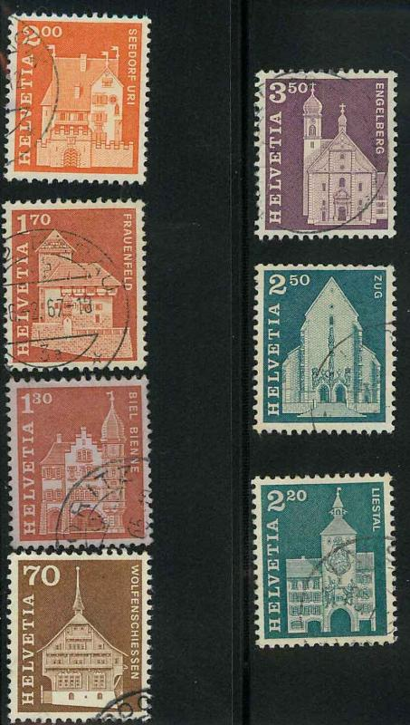 Switzerland 446,49, 451-455 Used VF