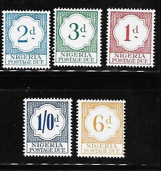 Nigeria 1961 Postage due stamps MNH A721