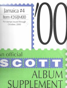 Scott Jamaica #4 Supplement 2000