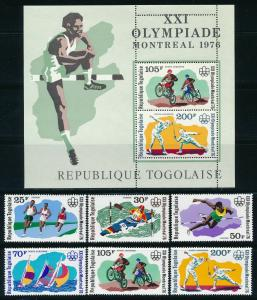 Togo - Montreal Olympic Games MNH Set #934-6-C298-9 (1976)