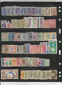 GUATEMALA COLLECTION ON STOCK SHEET, MINT/USED