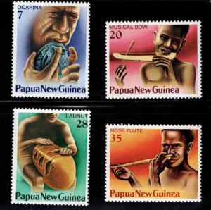 PNG Papua New Guinea Scott 491-493 MNH** musical insturment set