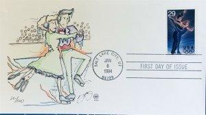 Steve Wilson Hand Painted 2809 Winter Olympics Salt Lake City Ice Dancing Couple