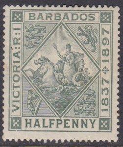Barbados Sc #82 MH; Mi #54