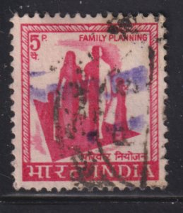 India RA2a Family Planning (408) Refugee Stamp O/P 1971