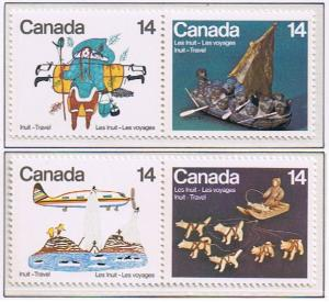 Canada Mint VF-NH #769-772 Inuit-Travel