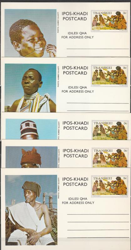 Transkei  1976 Picture Postal Cards Mint (A1779L)
