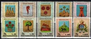 San Marino #677-86 MNH CV $2.70 (X2646)