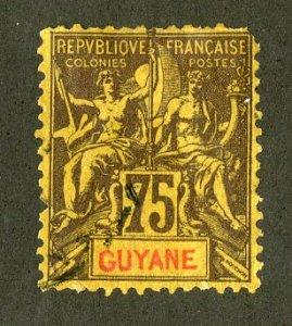 FRENCH GUIANA 48 USED SCV $28.00 BIN $12.50 ANGELS