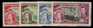 SOUTHERN RHODESIA GVI SG36-39, CORONATION set, M MINT.