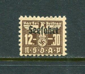 x381 - GERMANY 1940s SEEFAHRT Party Dues REVENUE Stamp. Mint no gum
