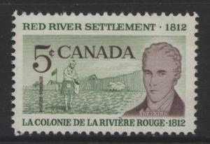 Canada - Scott 397 - Lord Selkirk -1962 - MVLH - Single  5c Stamp