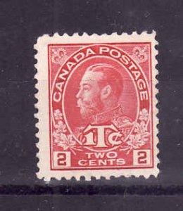 Canada-Sc#MR3b-Unused 3c rose red war tax-KGV-no gum-1915-Cdn740-