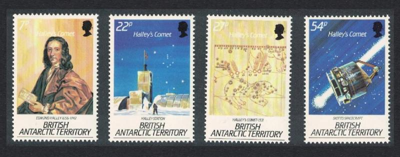 BAT Halley's Comet Astronomy Space 4v 1986 MNH SG#147-150