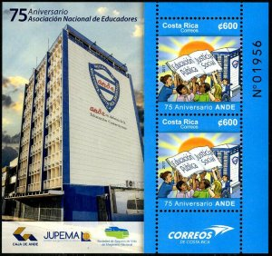 HERRICKSTAMP NEW ISSUES COSTA RICA Sc.# 693a ANDE 75th Anniversary S/S