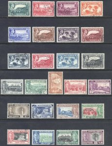 Montserrat 1938&1951 SETS SG101-12&123-35 Scott 92-103&114-26 VFU Cat £125($156)