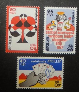 Netherlands Antilles B143-45. 1977 Bridge Championships, NH