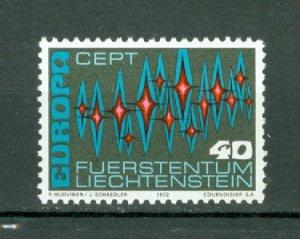 LIECHTENSTEIN1 972 EUROPA #504...MNH..$0.50
