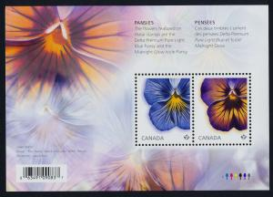 Canada 2809 MNH Flowers, Pansies