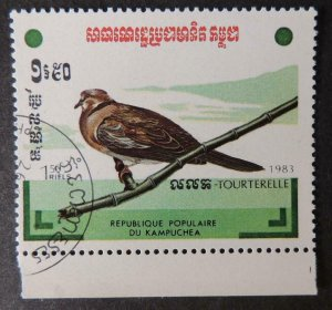 Kampuchea 1983 birds turtle dove 1v used