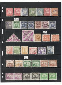 BOLIVIA COLLECTION ON STOCK SHEETS, MINT/USED