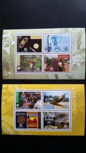 50th anniversary of EUROPA stamps - Benin - 2x Bl perforated ** MNH
