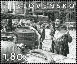 Stamps of Slovakia 2018. - ART: Ladislav Belik - A man with a bare chest.