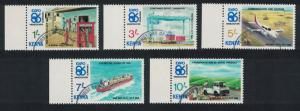 Kenya Airplanes Ships 'Expo '86' World Fair Vancouver 5v CTO SG#385-389 CV£10+